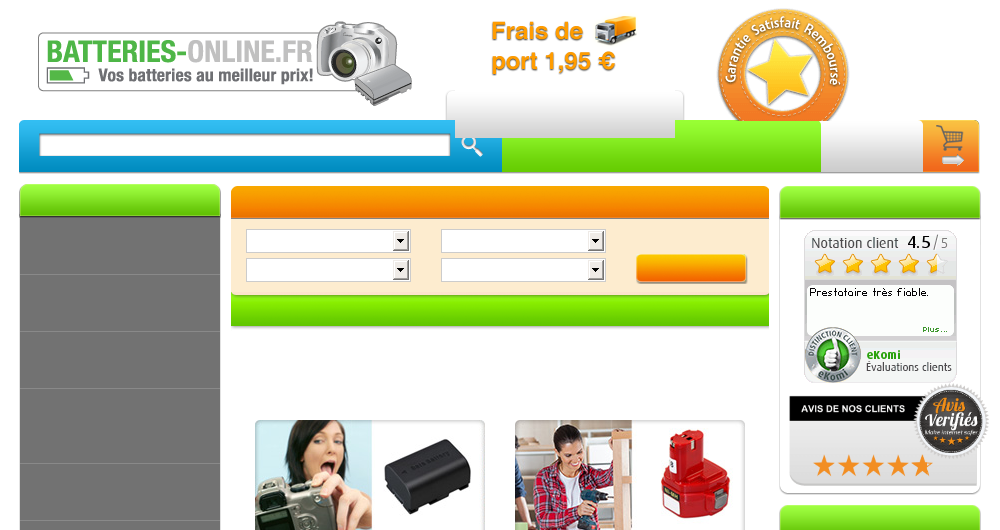 10% discount on everything from Batteries-online.fr
